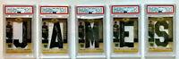 """Lebron James Auto! """"JAMES"""" Set! (5 Card Set) Each Card PSA10 Auto! POP 1's! 🔥👑"""