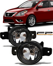 For 2012-2017 Nissan Versa Front Replacement Fog Lights Housing Clear Lens Pair