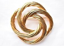 Coat Sweater Pin Signed Jewelry Vintage Monet Infinity Circle Brooch Geometric