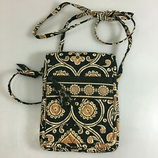Vera Bradley Caffe Latte Mini Hipster Crossbody Bag Quilted Cotton Retired
