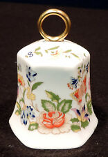 Aynsley Bc 3in bell Cottage Garden pink yellow blue purple flws gold handle Eng