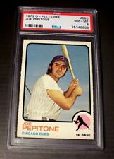 1973 O-PEE-CHEE #580 Joe Pepitone CUBS YANKEES PSA 8 NM-MT HIGH # LOW POP SHARP!