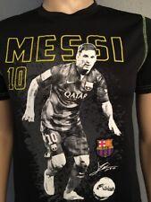 Messi Neymar Soccer Football Boys Black T Shirt  Barcelona Fcb Sz XL