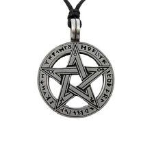 Runic Pentacle Pentagram Pagan Wiccan Rune Druid Futhark Amulet Pendant Necklace