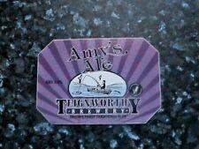 Teignworthy Amy/'s Ale beer pump clip sign