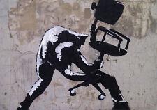 "BANKSY STREET ART CANVAS PRINT London calling clash 8""X 10"" stencil poster"