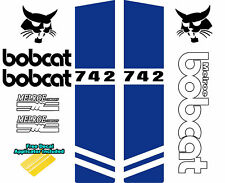 Bobcat MELROE 742 Skid Steer Set Vinyl Decal Sticker Sign 9 PC SET + APPLICATOR
