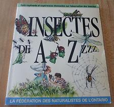 Soft Cover French Book Insectes de A à Z zzz ! Héritage Jeunesse