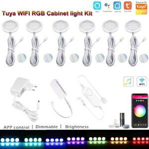 Wifi tuya APP remote control RGB LED Under Cabinet Lighting Dimming Kitchen Kit