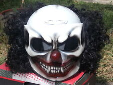 Black Nightmare Killer Clown Custom Made Airbrush Motorcycle Helmet Scary Clown
