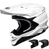 Shoei VFX-EVO Solid Adult Mens Off Road Racing Dirt Bike DOT Motocross Helmets