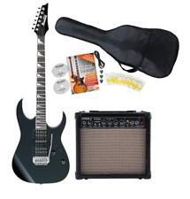 starkes Ibanez GRG170DX E-Gitarren Black Night SET inkl Gigbag 15W Amp Zuberhör