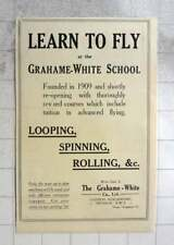 1919 Learn To Fly At The Grahame- White School Looping Spinning Rolling