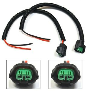 Extension Wire Pigtail Female P C H8 Two Harness Fog Light Socket Plug Bulb Lamp