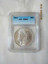 1896 Morgan Silver Dollar - Graded by ICG MS 63