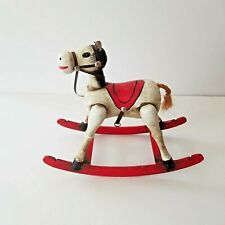 Enesco Wooden Musical Toy Rocking Horse Vintage Primitive Plays Toy Land