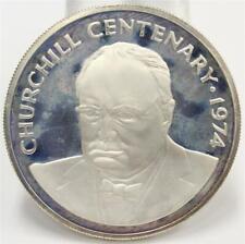 1974 Cayman Islands $25 silver coin Winston Churchill choice cameo proof PRF65