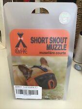 Short Snout Dog Adjustable Breathable Muzzles, Small - Grey (Eyehole)