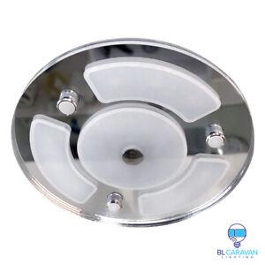 12v 24v RV-Caravan- Ceiling Glass Medium Round Dimmable Touch Led light x 4