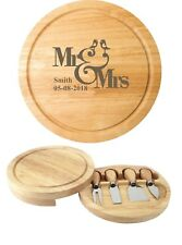Personalised Engraved Chopping Cheese Board  Bride and Groom Gift Mr & Mrs Gift