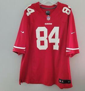 Nike On Field NFL San Francisco 49ers Randy Moss 84 Jersey Mens 2XL Red