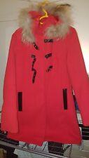 Manteau Femme Rouge Taille 38 40 fourrure capuche  NEW COLLECTION