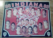 1988-89 Indiana University Basketball IU Hoosiers Poster Bob Knight
