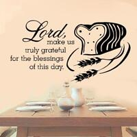 Lord Greatful For This Bread Vinyl Decal Sticker Christ Kitchen Christian Bible