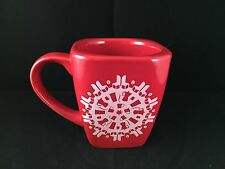 Starbucks 2004 red christmas snowflake holiday coffee cup heavy mug retired