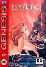 The Lion King Sega Genesis Game Complete CIB + Poster