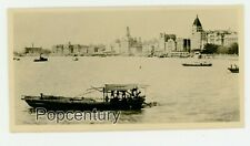 Pre WW2 1930s China Photograph Shanghai Harbor Wharf The Bund Sharp Photo