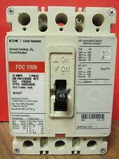EATON / CUTLER HAMMER 3 POLE 45 AMP CIRCUIT BREAKER CAT No. FDC3045 ...... VD-47