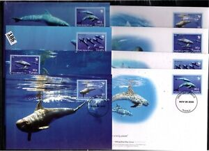 /// TUVALU 2006 - 4 FDC+MC - WWF - WHALES