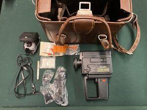 Minolta XL-225 Sound Super8 8mm Movie Video Camera With Case