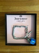 JUICY COUTURE BLUE JEWELED GIFT BOX DOUBLE STRAND CHAIN BRACELET ORG.  $59 BNWT
