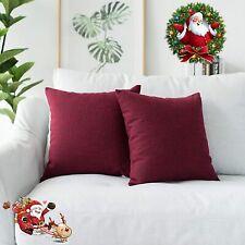 Kevin Textile Super soft Faux Linen Square Throw Cushion Cover Pillowcase