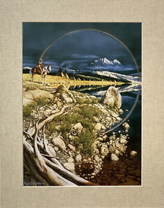 Bev Doolittle The Sentinel  Matted Print fits 11x14 ready frame
