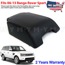 Fits 2006-2013 Range Rover Sport Leather Center Console Lid Armrest Cover Black