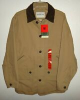 NWT MENS M MEDIUM ORVIS CANVAS KHAKI QUILTED LINED BARN JACKET COAT RANCH