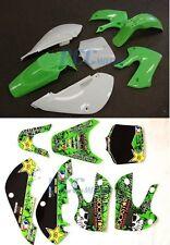 FOR KAWASAKI KLX110 110 KX65 METAL MULISHA DECALS STICKER & PLASTIC KIT 9 DE66+