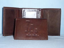 LOS ANGELES DODGERS   Leather TriFold Wallet    NEW    dark brown 3v nd