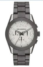 Karl Lagerfeld KL2802 Chronograph Textured Bracelet Men's Watch RARE! Gunmetal