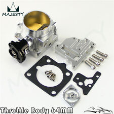 94-97 64mm Billet Throttle Body Mazda Miata NA 1.8L BP BP-4W - Z3 Engine Silver