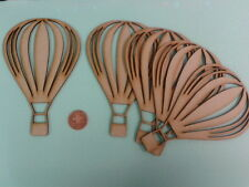 Hot Air Balloon Craft Shapes Laser Cut 3mm MDF Wooden 16.4cm x 10.7cm Pack of 5