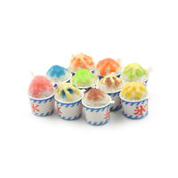 1:6 Dollhouse Miniature Summer Drinking Ice Cups Simulation Cold Drink Food XJ