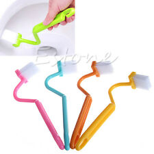 1Pc New S-type Toilet Sanitary Set Curved Bent Handle Cleaning Scrubber Brush