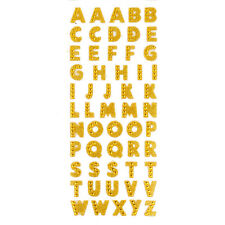 Alphabet Letters Glitter Crystal Stickers Self Adhesive DIY Decor Scrapbooking