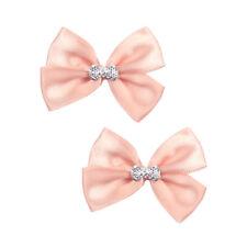 10 PCS Pink Satin Ribbon Flower Bow Applique Sewing Trim Wedding Dress DIY Craft