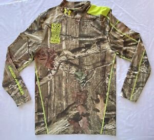 Men's Under Armour ColdGear Infrared Scent Control Compression LS Shirt Camo XL