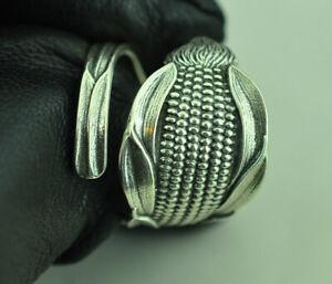 Beautiful 925 Sterling Silver Corn Ear Spoon Ring